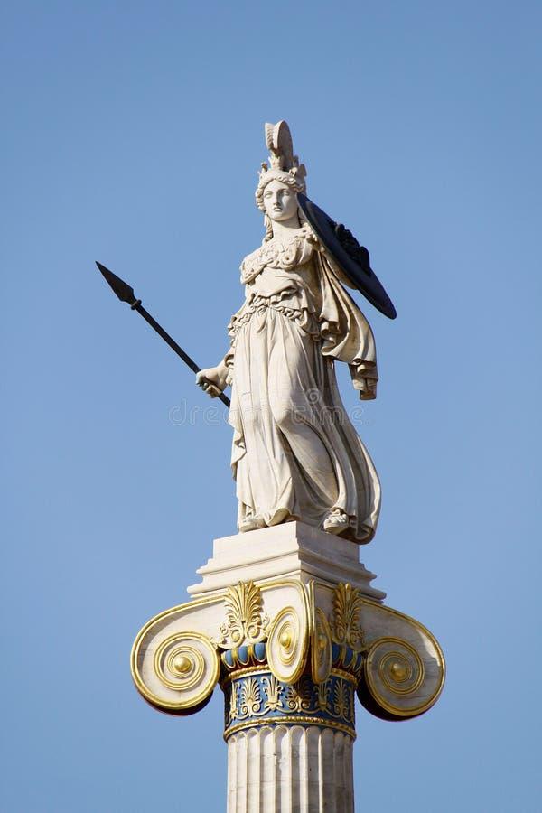 forntida athena gudinnagrek royaltyfri foto