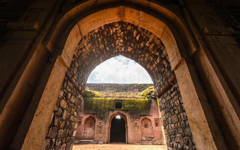 Forntida bågar Indien fotografering för bildbyråer