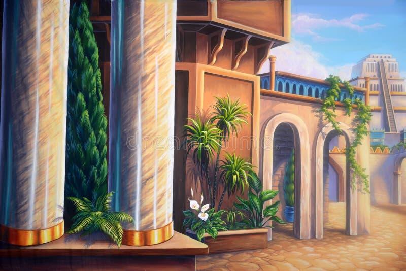 Forntida Babylon stock illustrationer