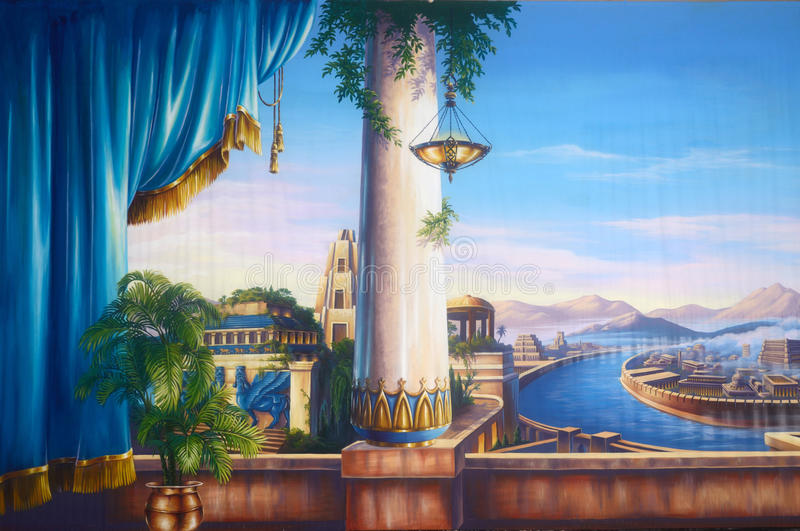 Forntida Babylon vektor illustrationer