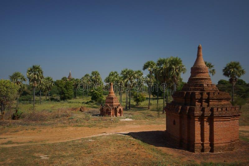 Forntida Bagan, Burma, Asien arkivbild
