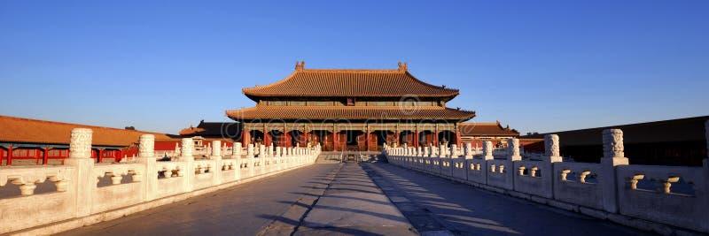 Forntida begrepp Forbidden City för kinesisk kultur arkivbilder