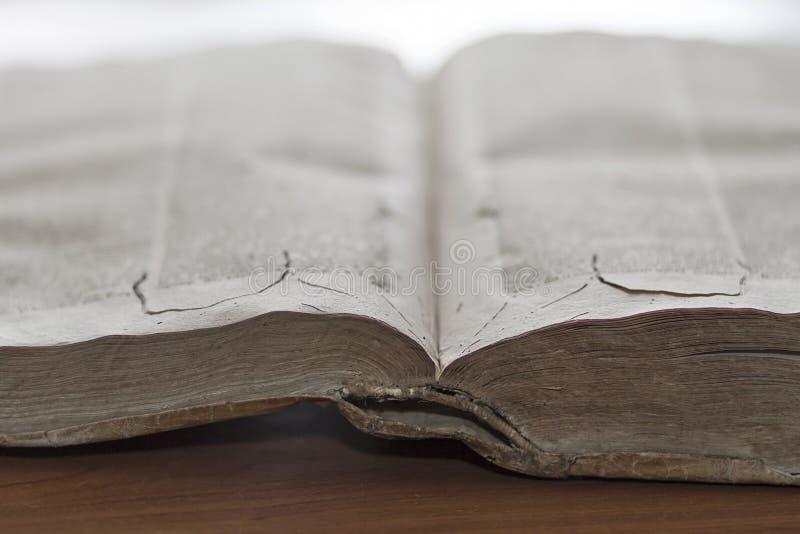 forntida bok royaltyfria bilder