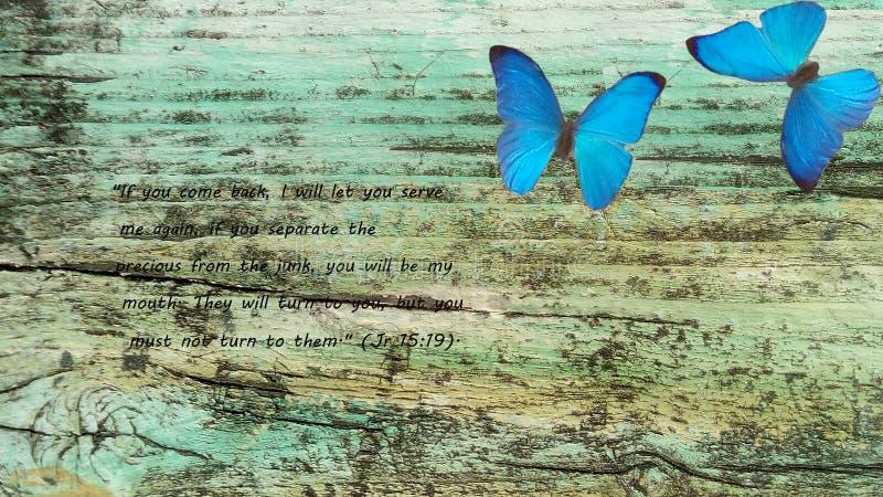 Forntida bräde med psalmen av profeten, den bibliska Jeremiahen arkivfoton