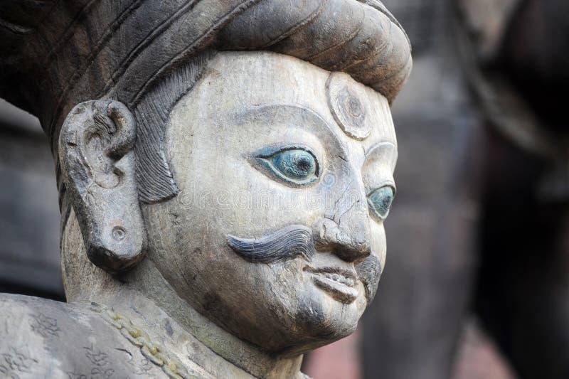Forntida buddha skulptur i Nepal arkivfoton