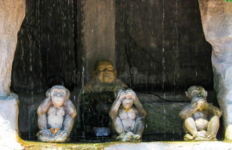 Forntida buddha staty i Ayutthaya, Thailand arkivbilder