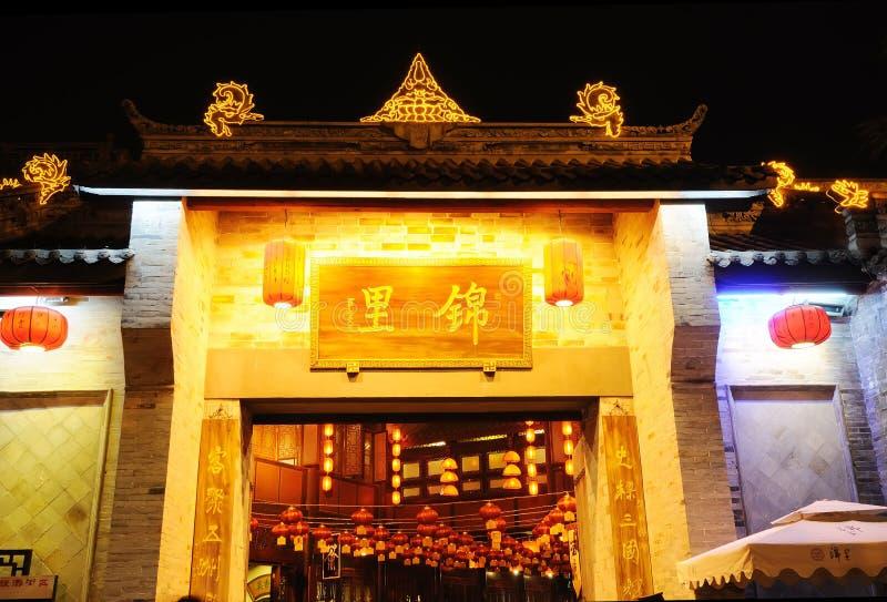 forntida chengdu jinlisichuan gata arkivfoto
