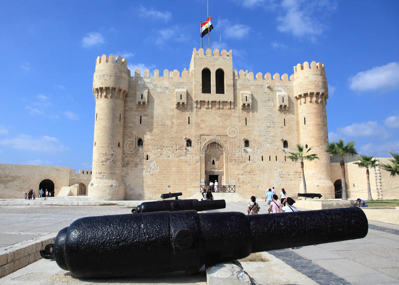 Forntida citadell av Qaitbay royaltyfria foton