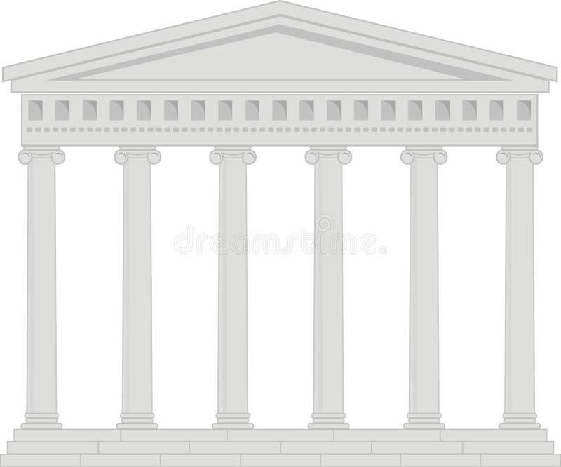 forntida colonnadeporticotempel royaltyfri illustrationer