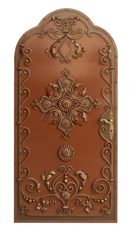 forntida dörrmetall arkivbild