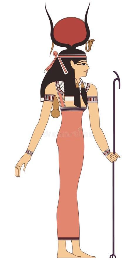 forntida egypt gud stock illustrationer