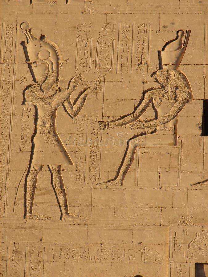 forntida egypt ptolemy tempel arkivbild