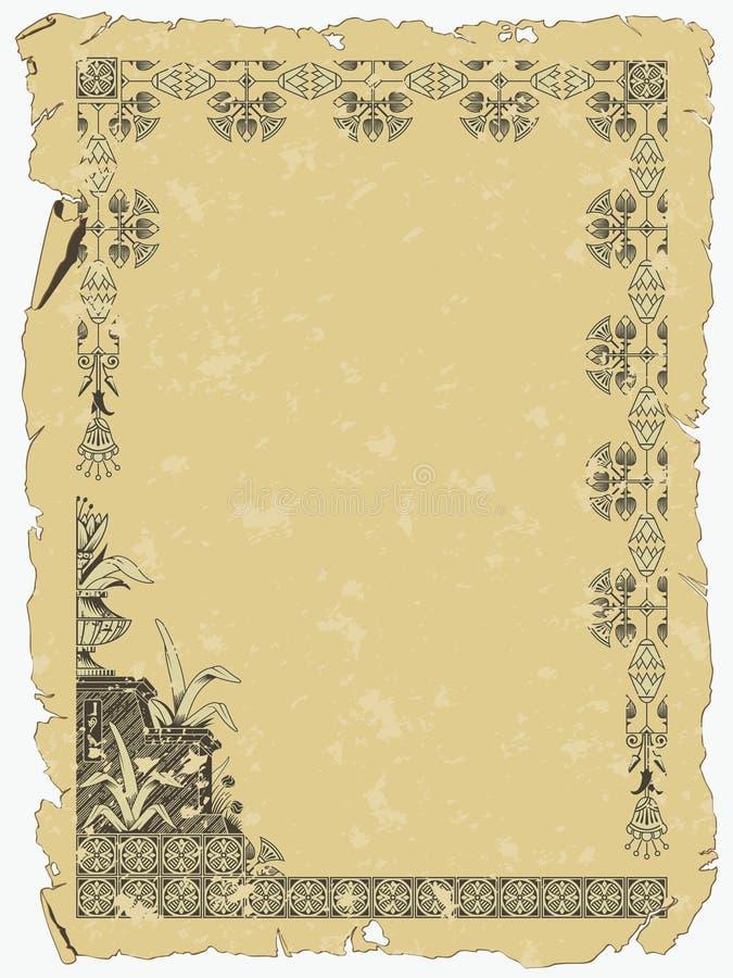 forntida egypt scroll vektor illustrationer