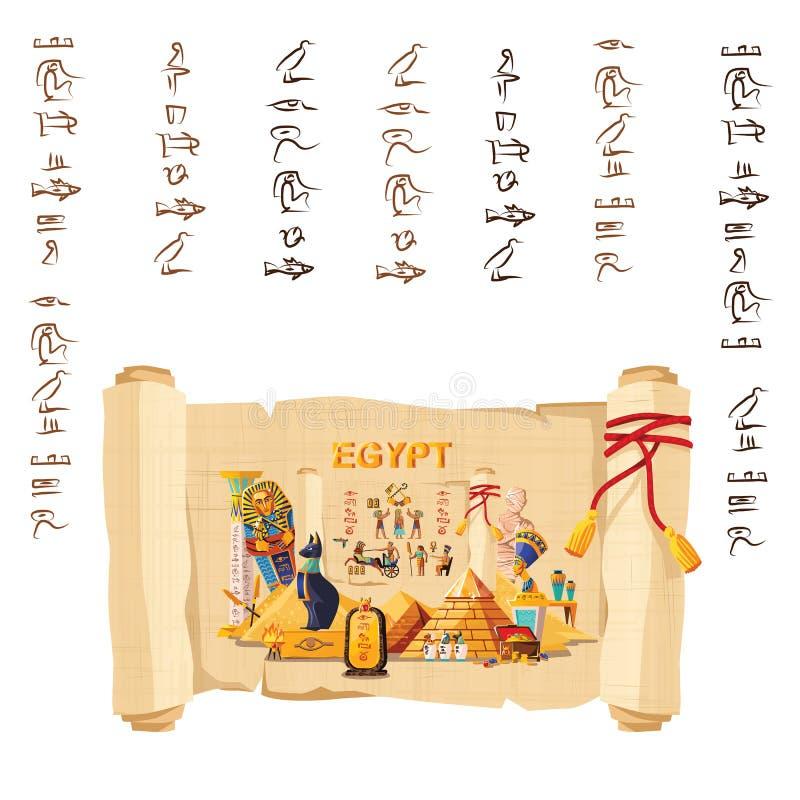 Forntida Egypten infographic loppbegrepp vektor illustrationer