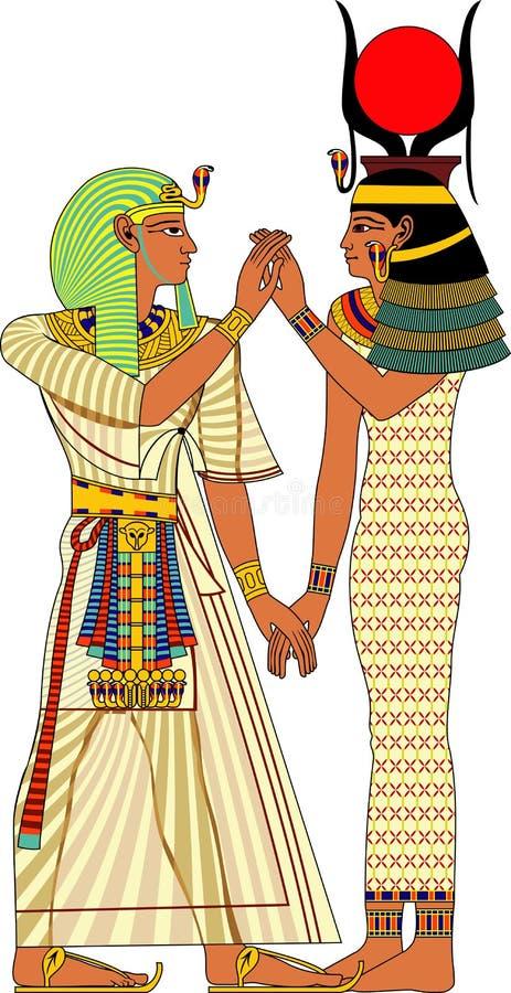Forntida Egypten par vektor illustrationer