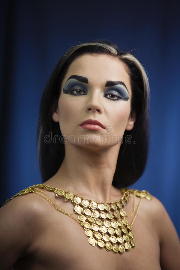 forntida egyptisk kvinna royaltyfri fotografi