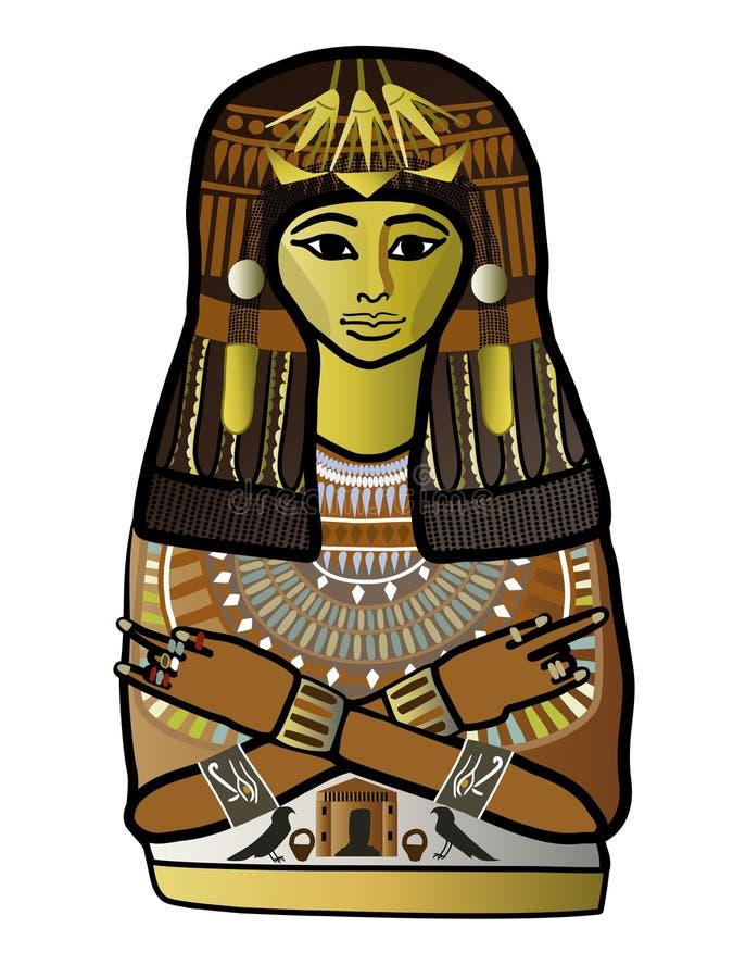 Forntida egyptisk kvinna stock illustrationer