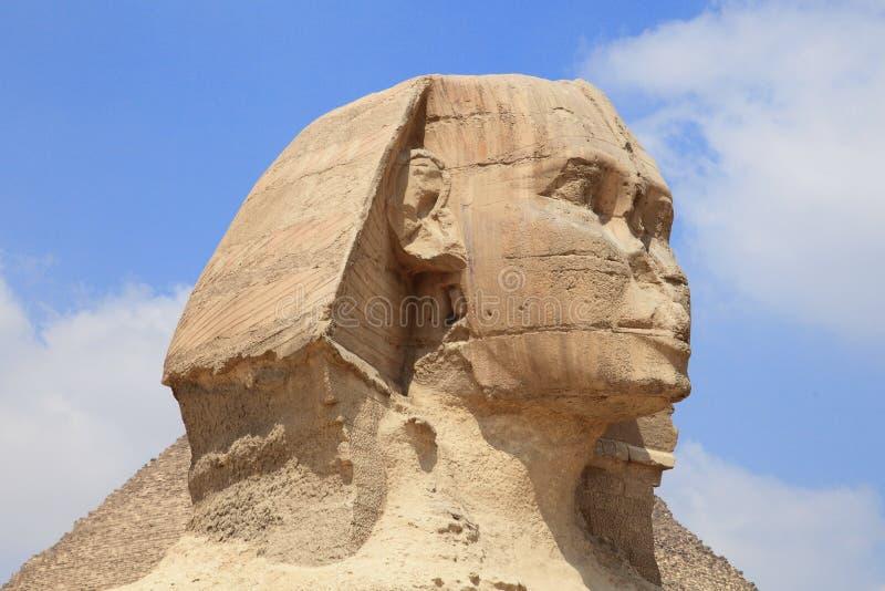 Forntida egyptisk skulptur arkivbild