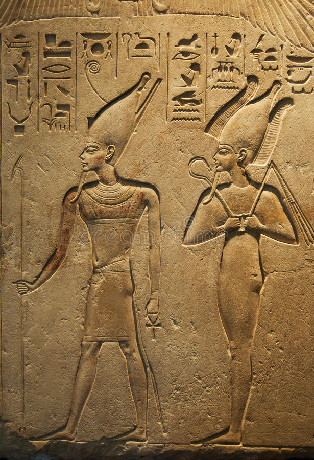 forntida egyptisk writing royaltyfri bild