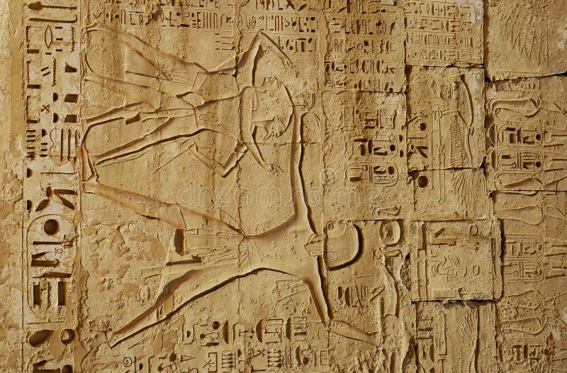 forntida egyptiska lättnader arkivbilder