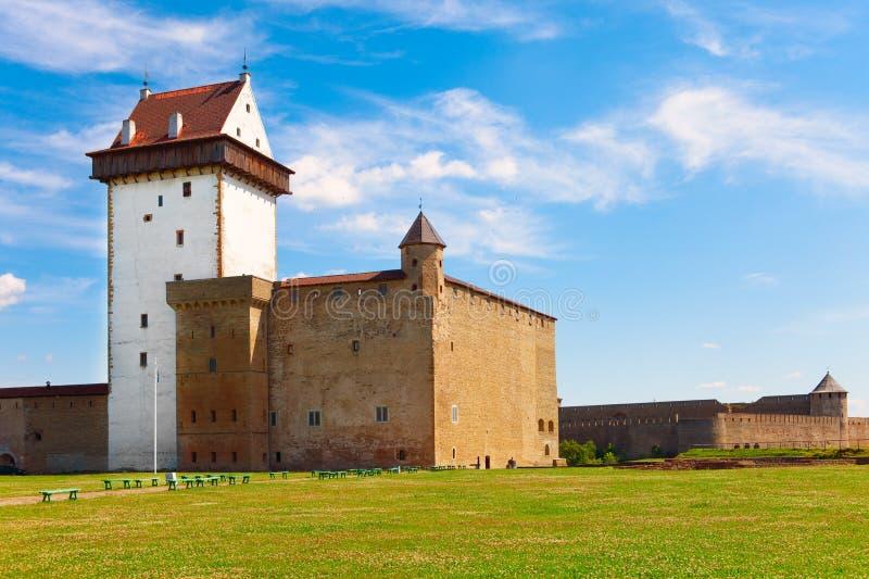 forntida estonia fästningnarva arkivbilder