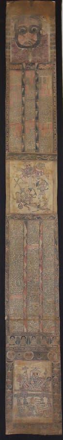 Forntida etiopier Scroll6 arkivbilder