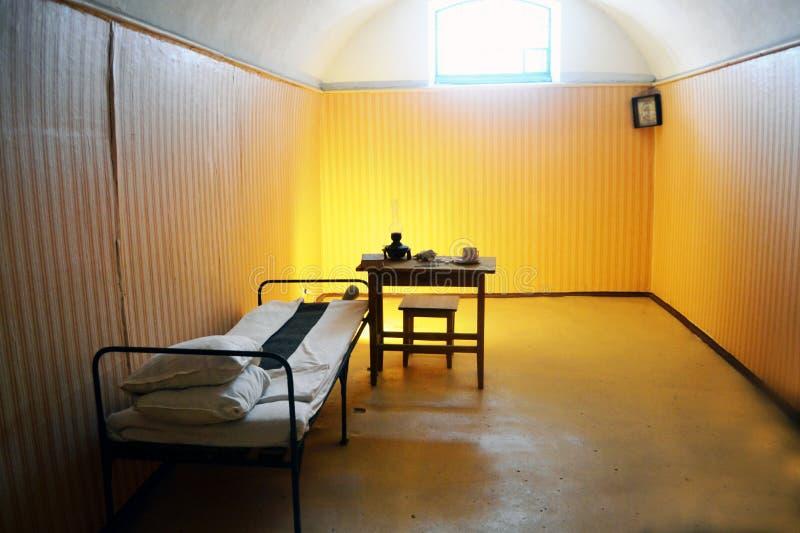 Forntida fängelsecell royaltyfria foton