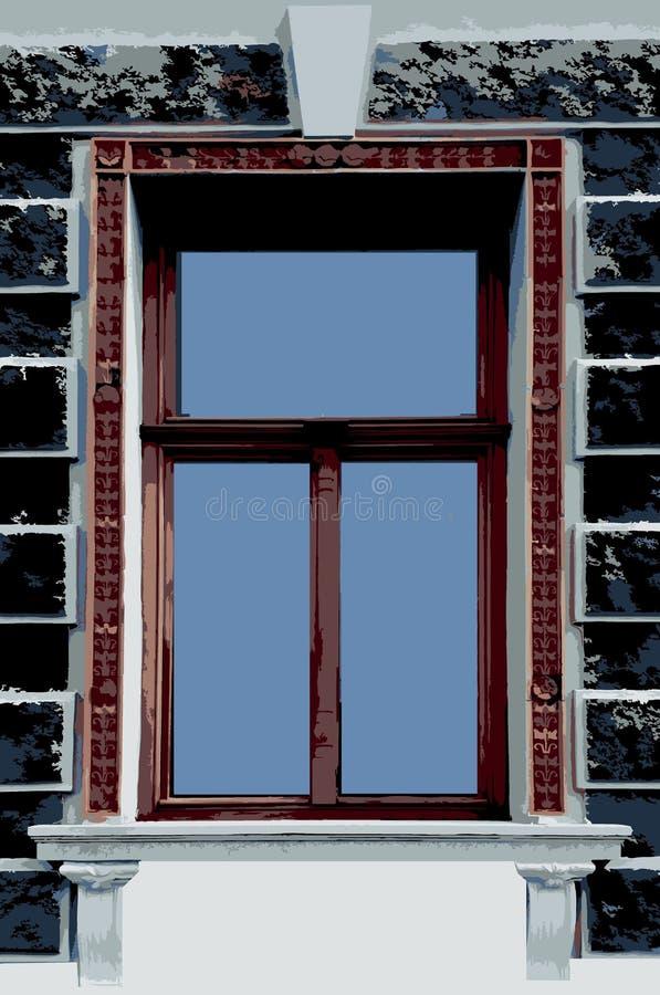 forntida fönster arkivbilder