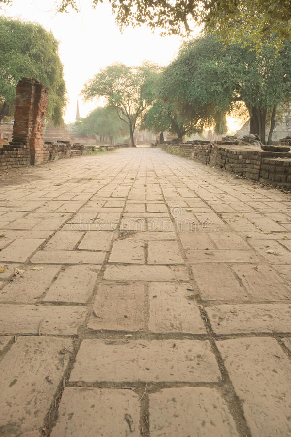 Forntida fördärva trottoar arkivbilder