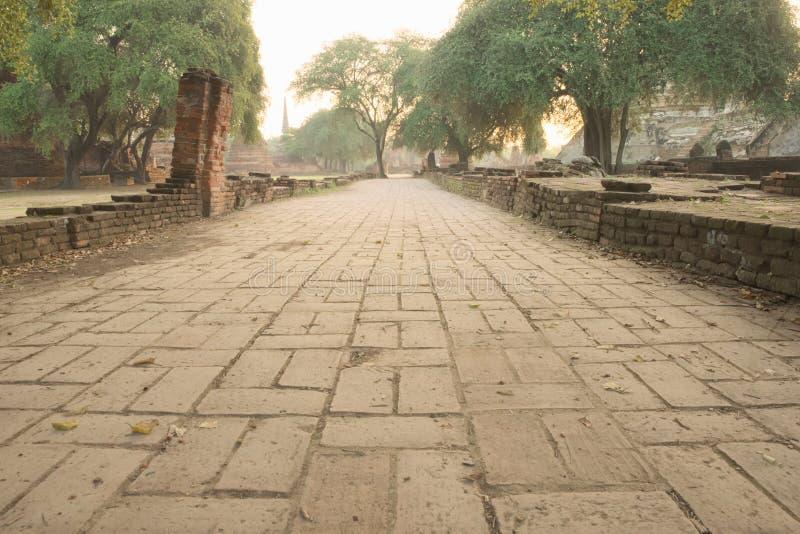 Forntida fördärva trottoar fotografering för bildbyråer