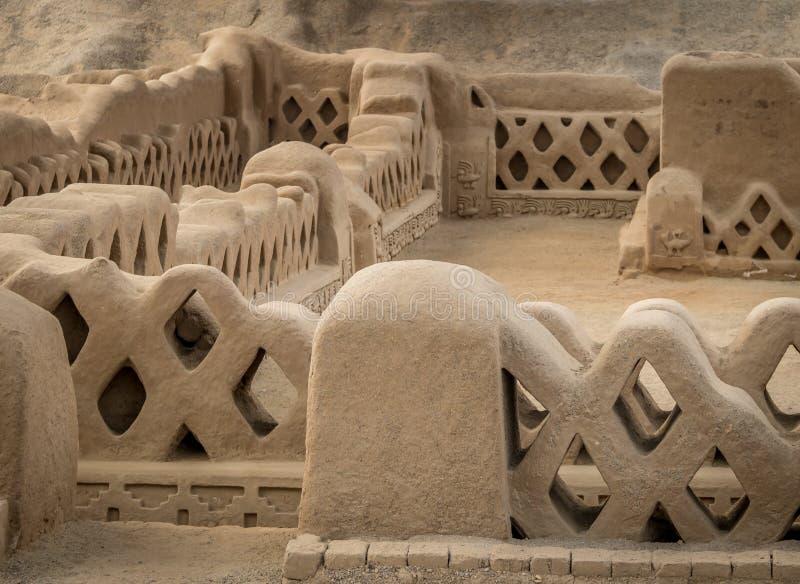 Forntida fördärvar av Chan Chan - Trujillo, Peru royaltyfri foto