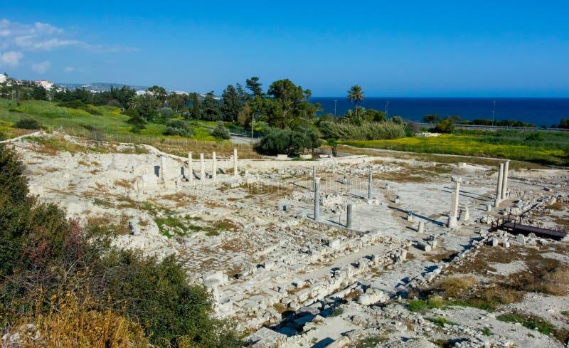 Forntida fördärvar i området Amatus arkivbild