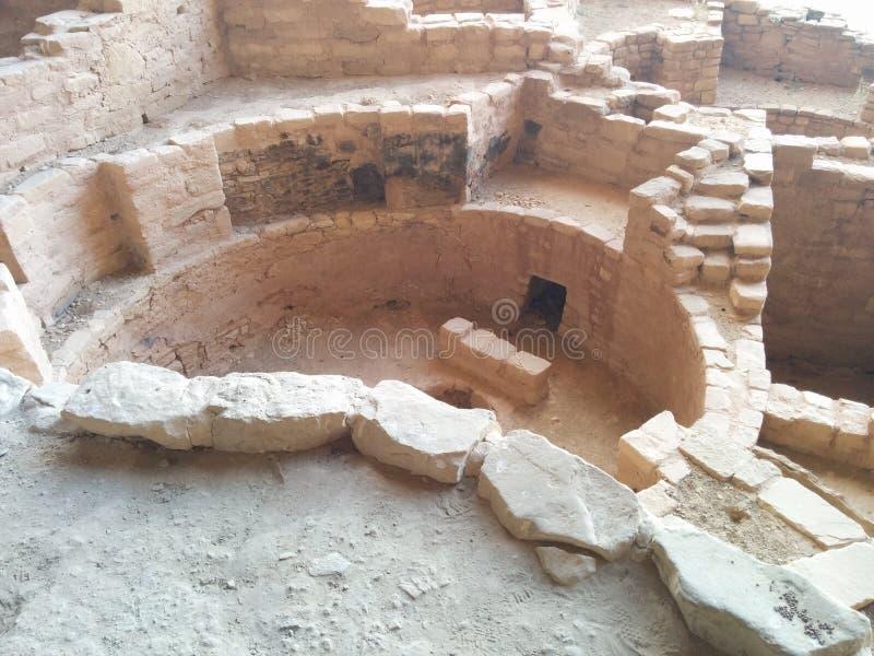 Forntida fördärvar på Mesa Verde National Park royaltyfri fotografi