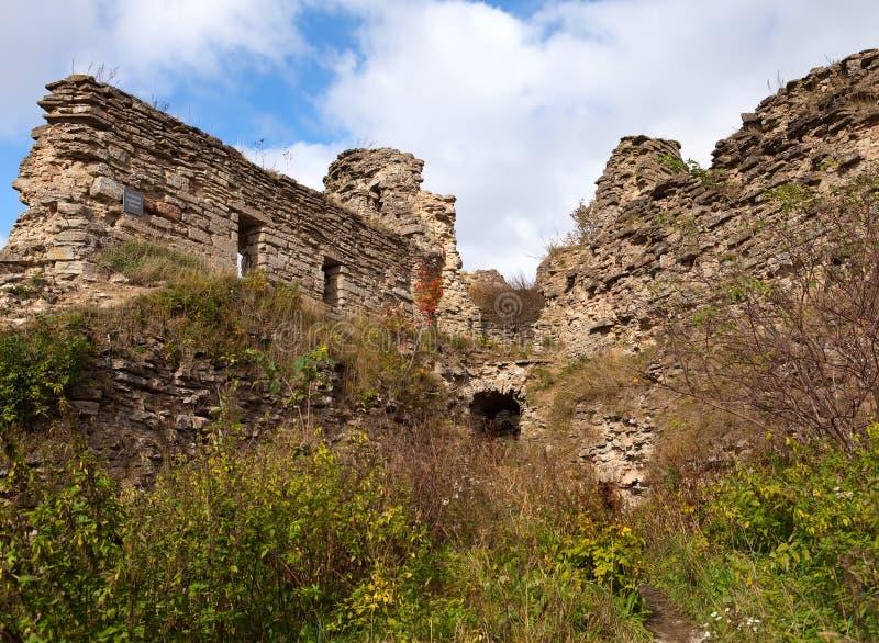 Forntida förstörd fästning petersburg Ryssland Koporye royaltyfria bilder