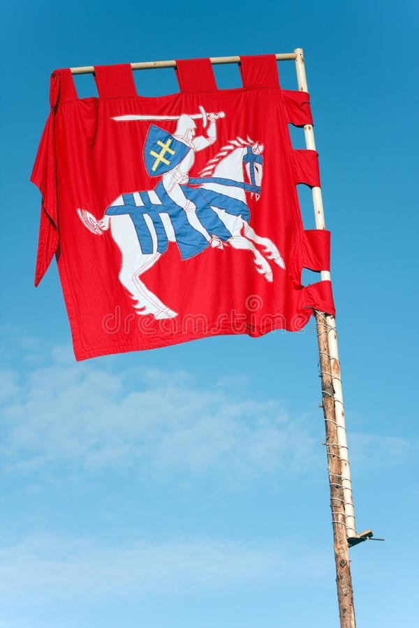 forntida flagga lithuania arkivfoto
