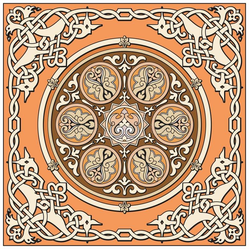 Forntida gammal ryssmodell vektor illustrationer