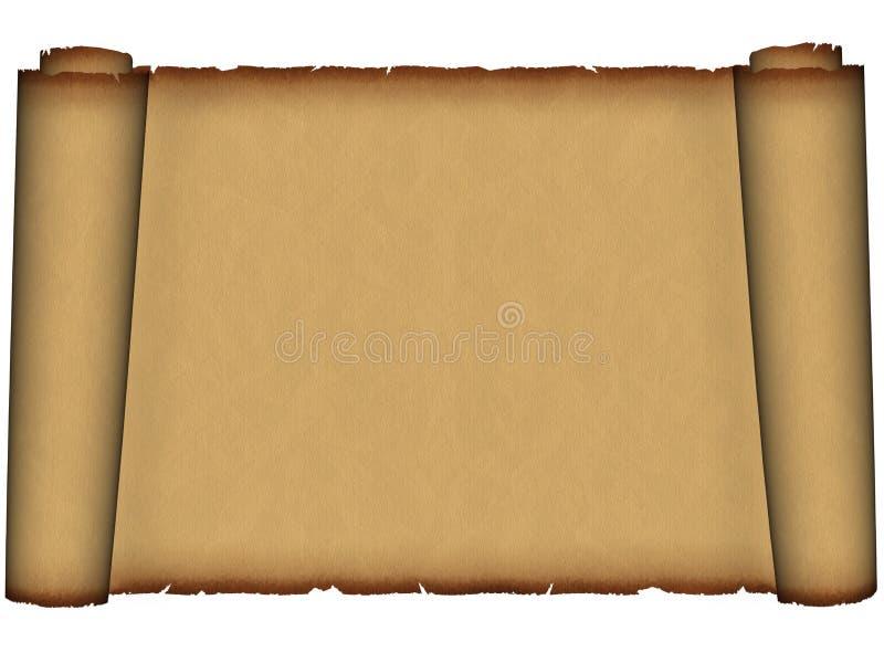 forntida gammala parchmentscrolls royaltyfria foton