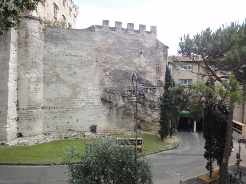 Forntida gata, Avignon arkivbild