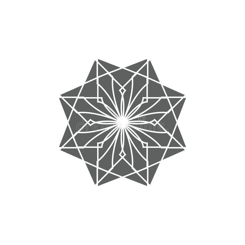Forntida geometriskt emblem, för att dekorera din egen design stock illustrationer