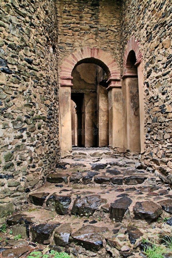 forntida gondar ethiopia fort royaltyfri bild