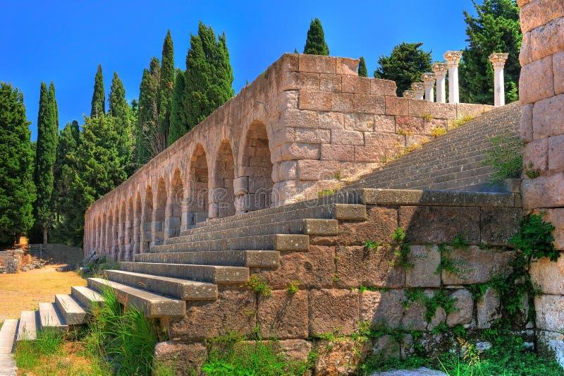 forntida greece fördärvar arkivfoto