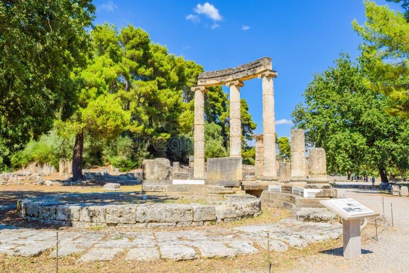 forntida greece olympia royaltyfria bilder
