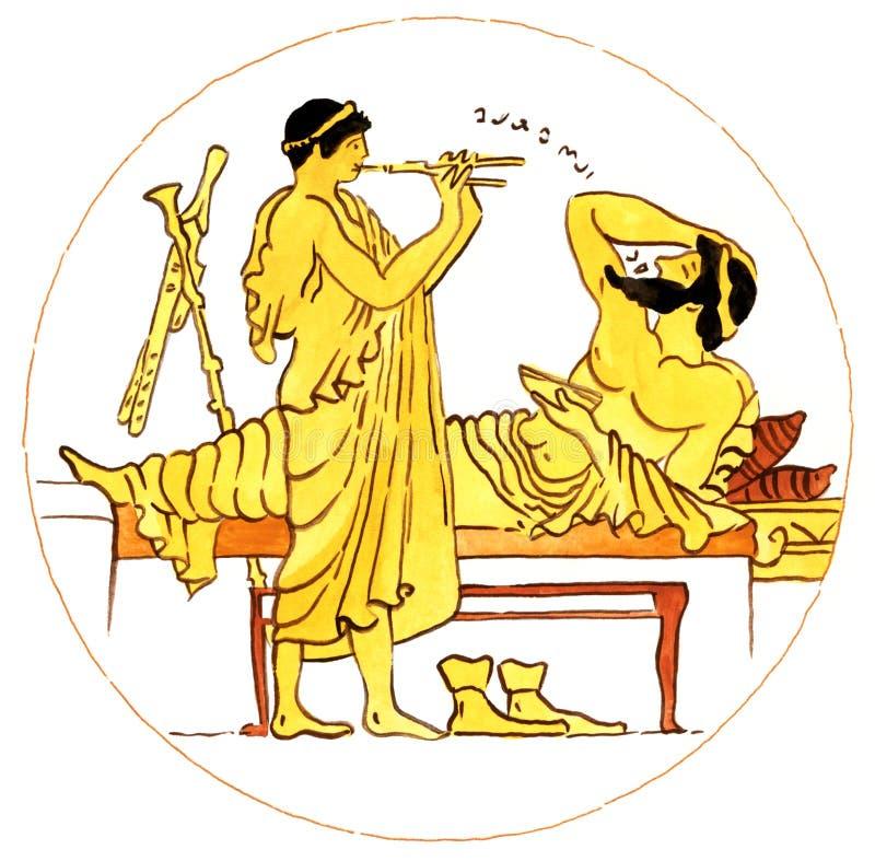 forntida grekisk musik vektor illustrationer