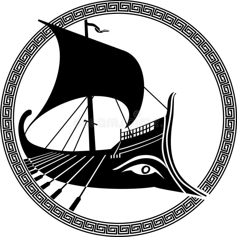 forntida grekisk ship royaltyfri illustrationer