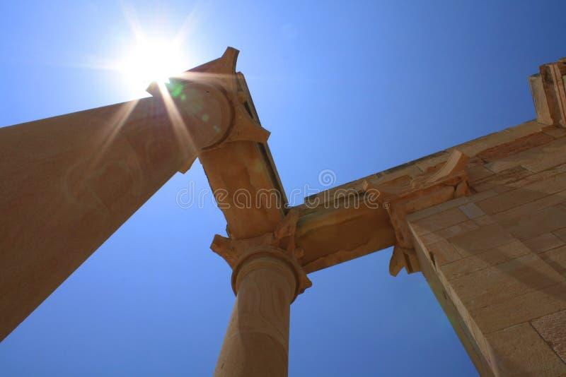 forntida grekiska väggar royaltyfri fotografi