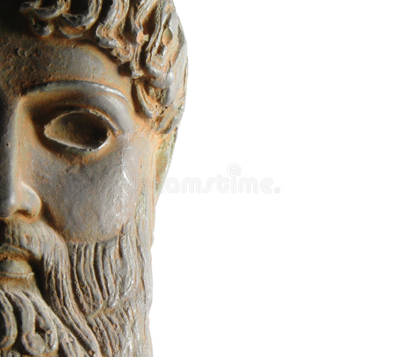 forntida gudgrekstaty arkivbild