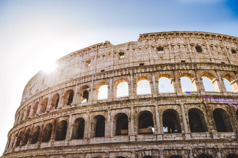 forntida härliga Colosseum fördärvar royaltyfria bilder