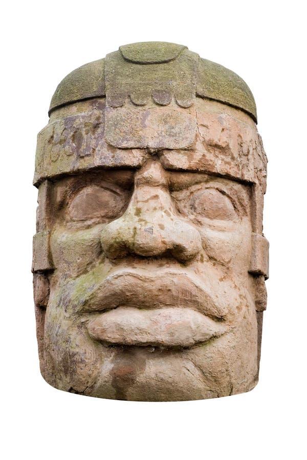 forntida head olmec royaltyfri bild