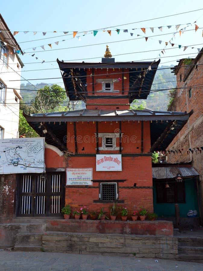 Forntida hinduisk tempel i Nepal royaltyfri foto