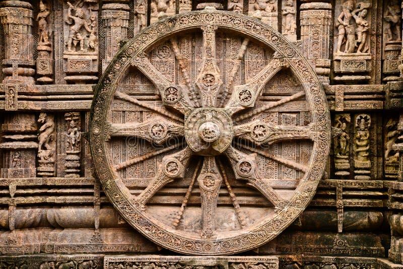 Forntida hinduisk tempel på Konark (Indien) royaltyfri fotografi